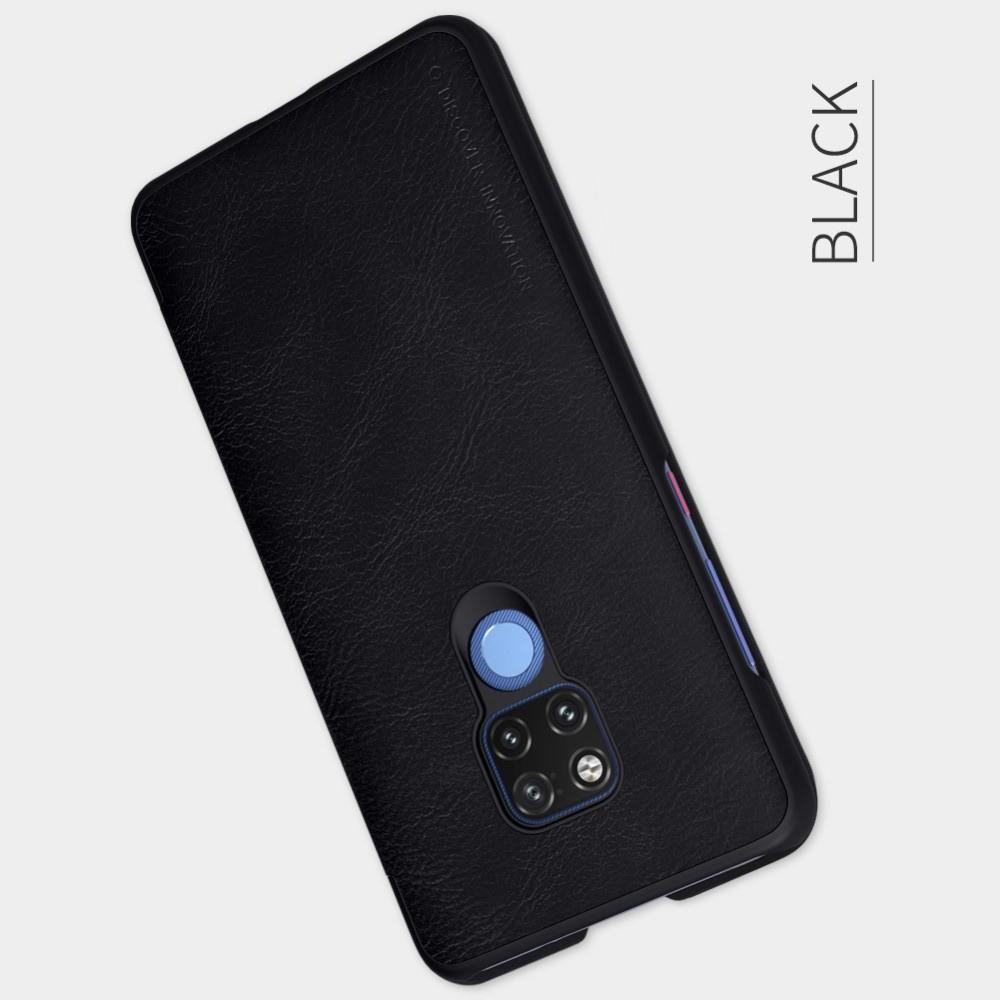 Тонкий Флип NILLKIN Qin Чехол Книжка для Huawei Mate 20 X Черный