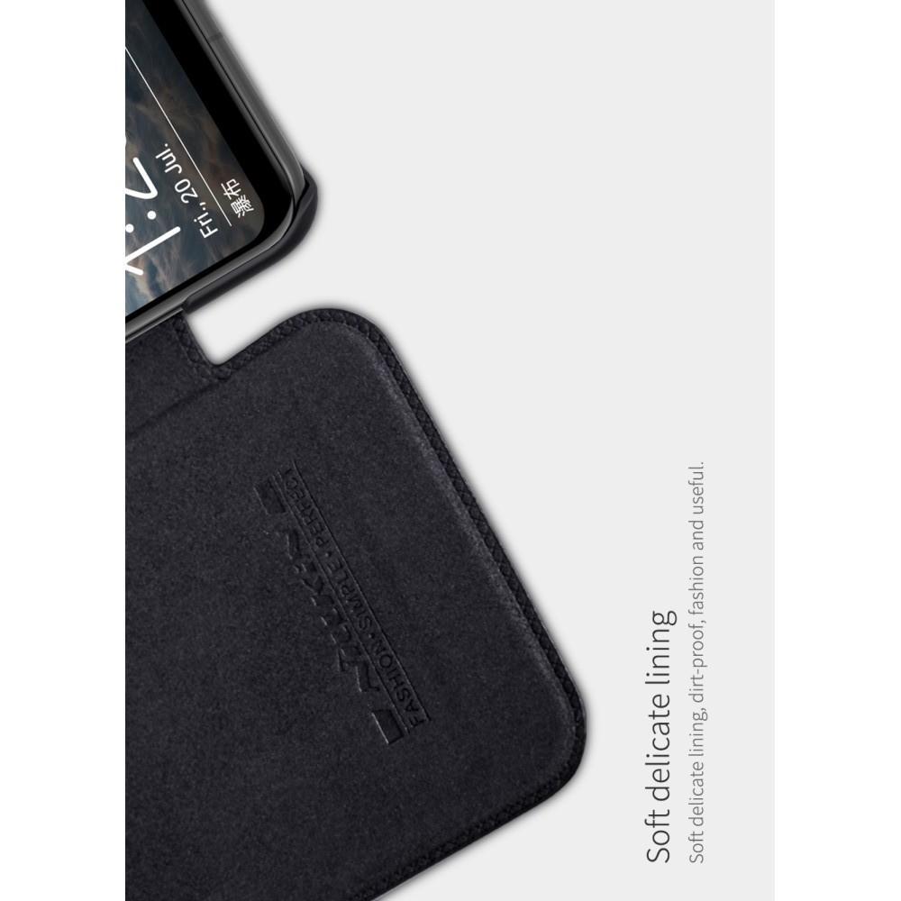 Тонкий Флип NILLKIN Qin Чехол Книжка для Huawei nova 3 Черный