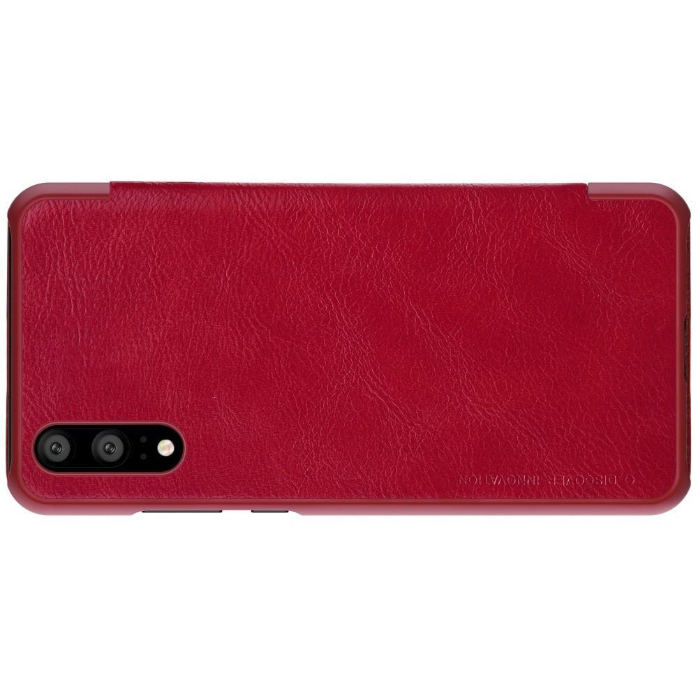 Тонкий Флип NILLKIN Qin Чехол Книжка для Huawei P20 Красный
