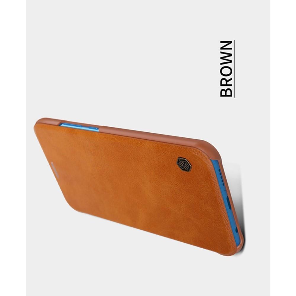 Тонкий Флип NILLKIN Qin Чехол Книжка для Huawei P20 lite Коричневый