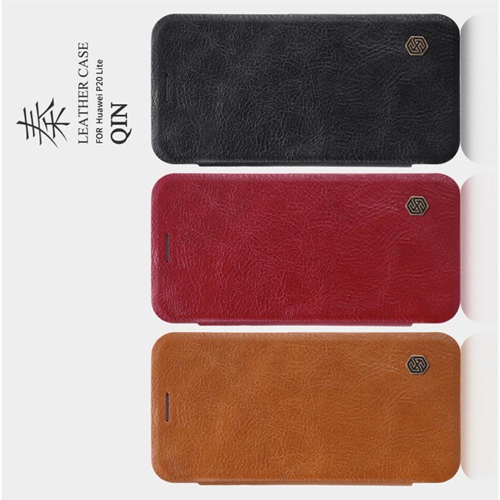 Тонкий Флип NILLKIN Qin Чехол Книжка для Huawei P20 lite Красный
