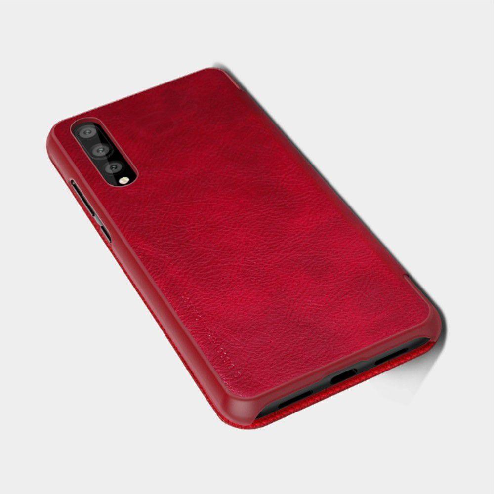 Тонкий Флип NILLKIN Qin Чехол Книжка для Huawei P20 Pro Красный