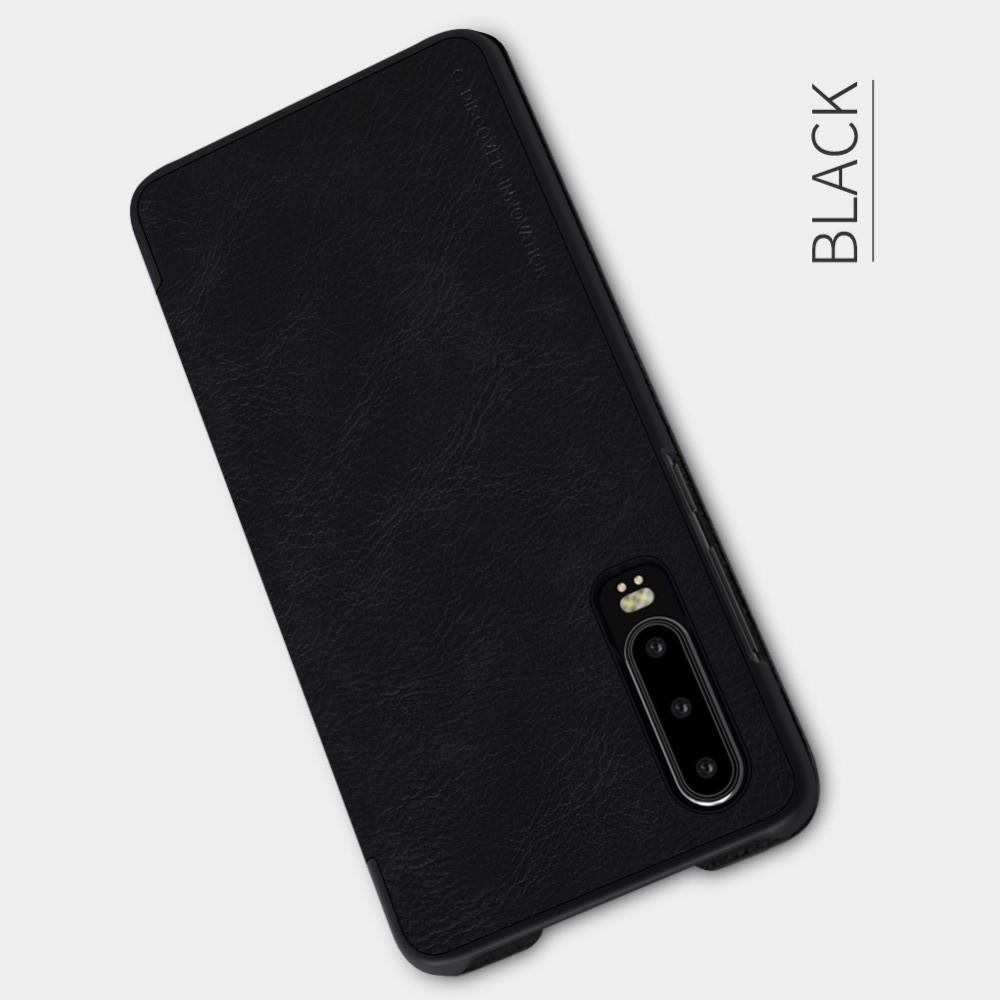 Тонкий Флип NILLKIN Qin Чехол Книжка для Huawei P30 Черный