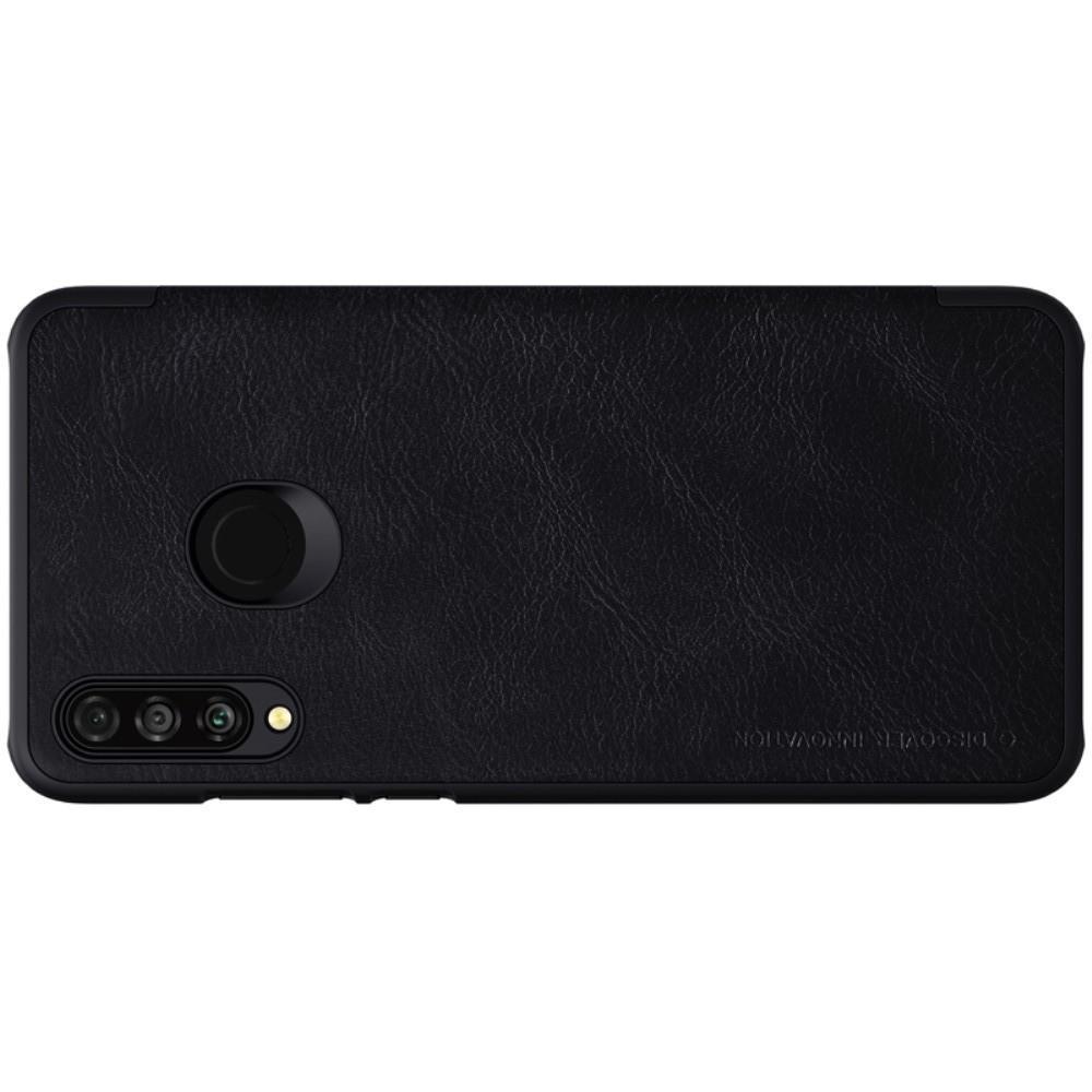 Тонкий Флип NILLKIN Qin Чехол Книжка для Huawei P30 Lite Черный