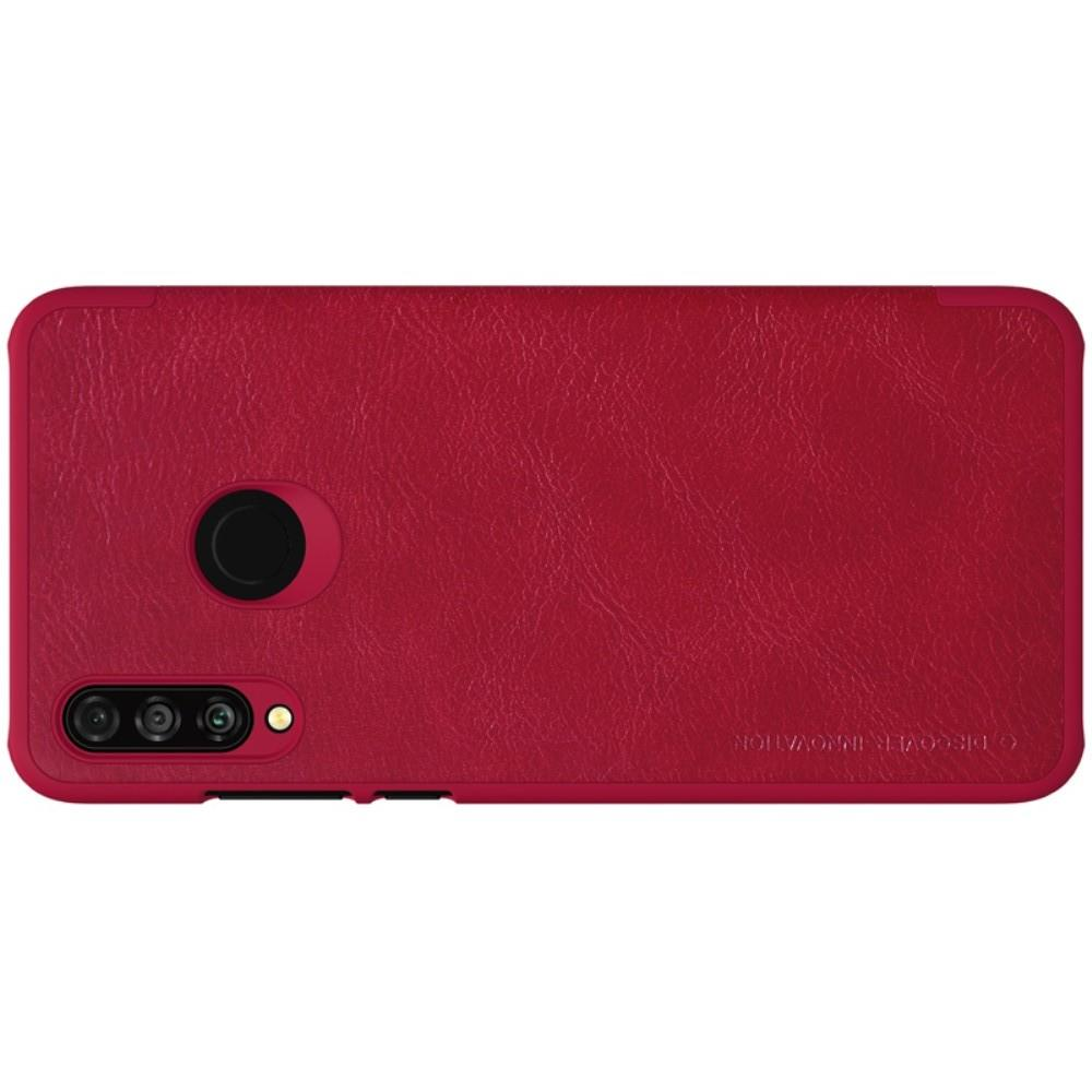 Тонкий Флип NILLKIN Qin Чехол Книжка для Huawei P30 Lite Красный