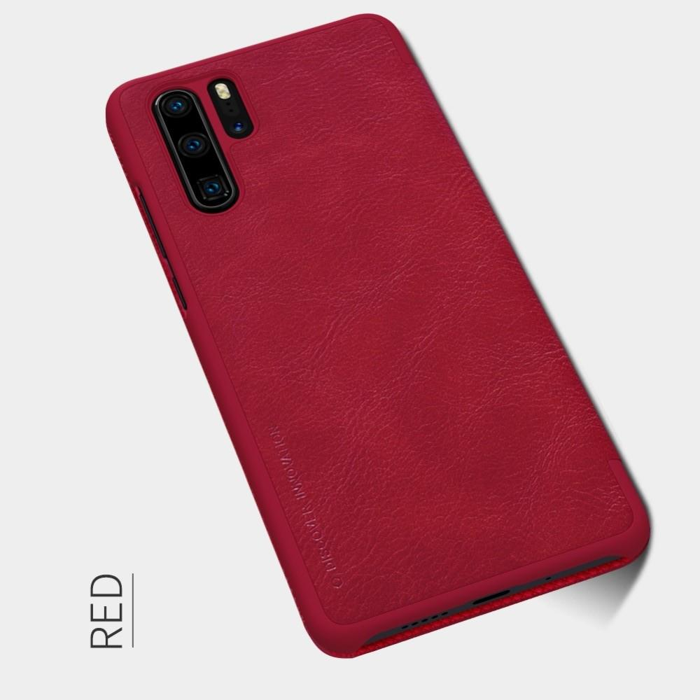 Тонкий Флип NILLKIN Qin Чехол Книжка для Huawei P30 Pro Красный