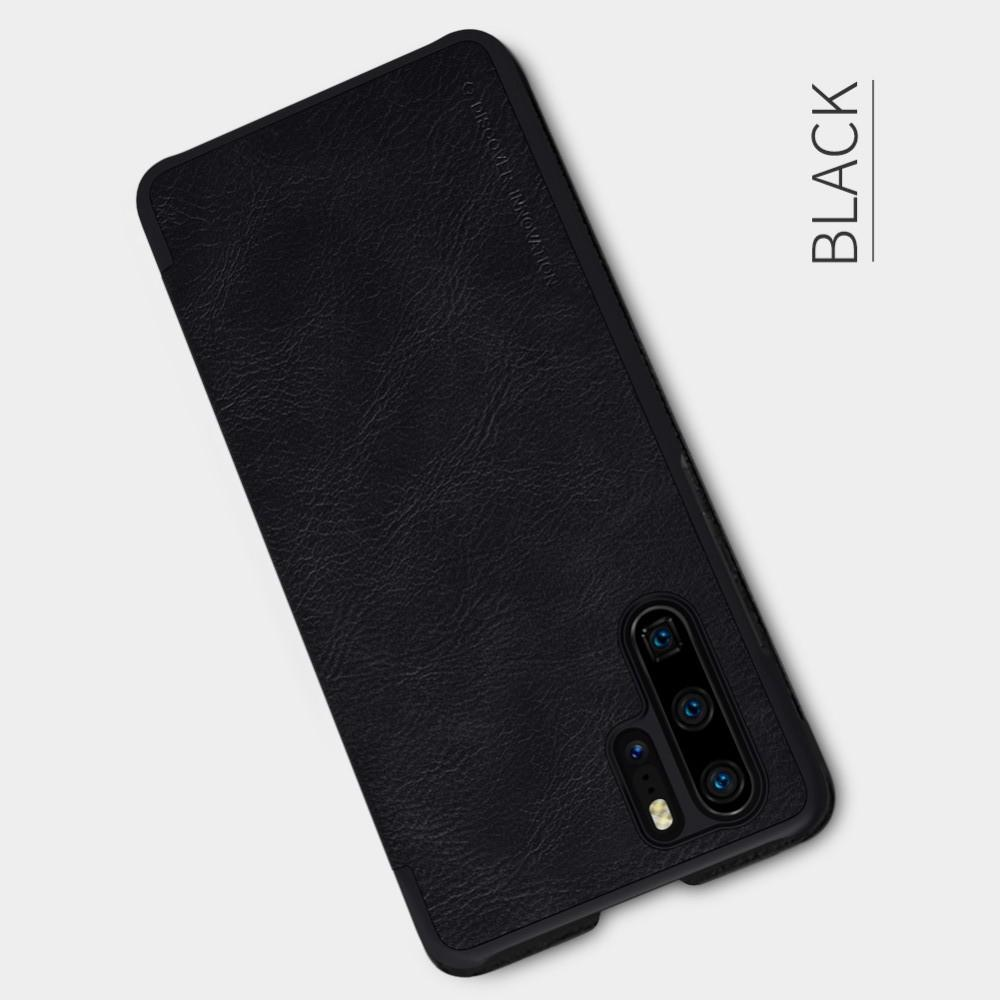 Тонкий Флип NILLKIN Qin Чехол Книжка для Huawei P30 Pro Черный