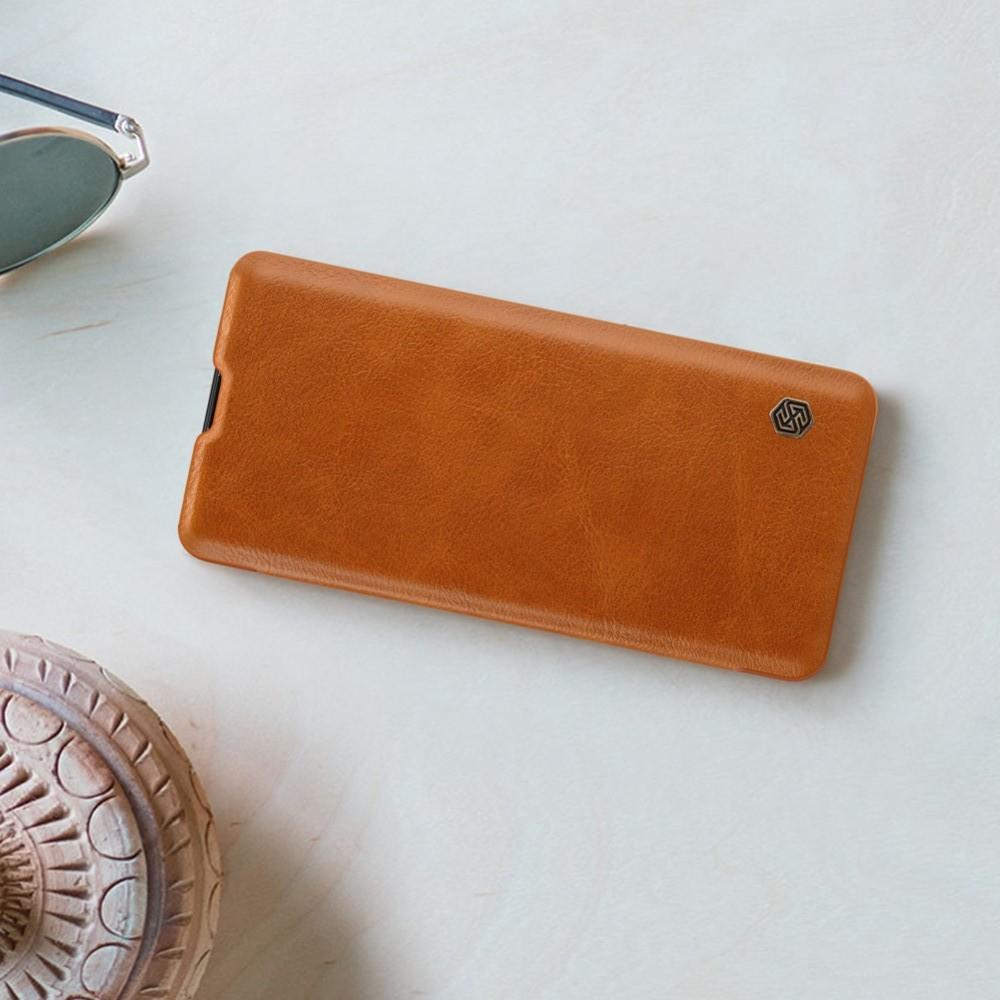 Тонкий Флип NILLKIN Qin Чехол Книжка для Huawei P30 Pro Коричневый