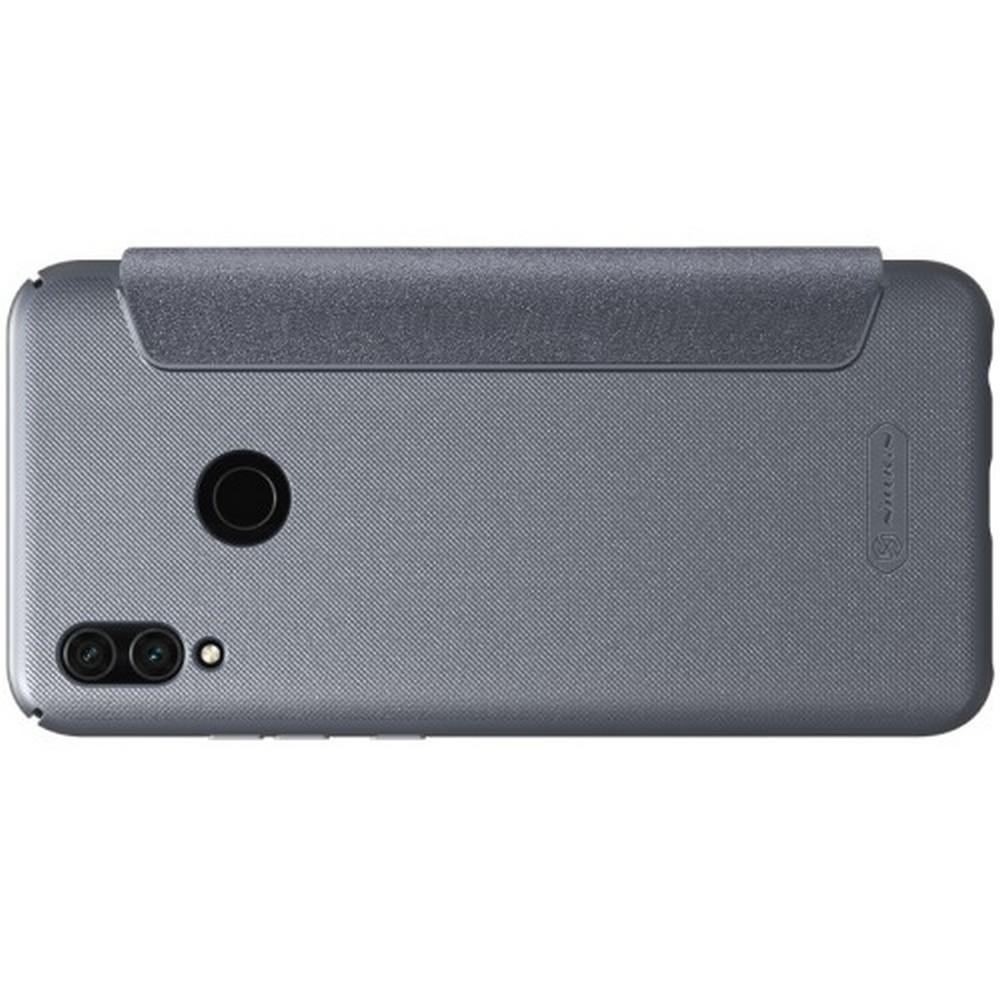 Тонкий Флип NILLKIN Sparkle Горизонтальный Боковой Чехол Книжка для Huawei Honor 10 Lite Серый