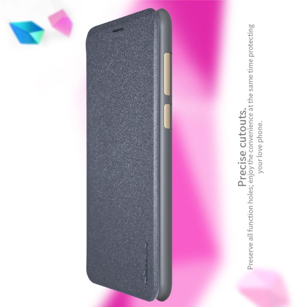 Тонкий Флип NILLKIN Sparkle Горизонтальный Боковой Чехол Книжка для Huawei Honor 7X Серый