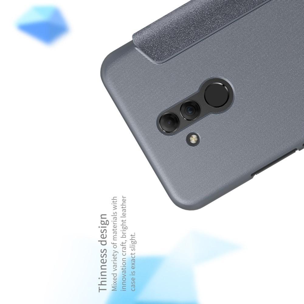 Тонкий Флип NILLKIN Sparkle Горизонтальный Боковой Чехол Книжка для Huawei Mate 20 Lite Серый