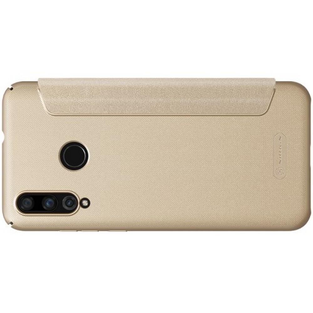 Тонкий Флип NILLKIN Sparkle Горизонтальный Боковой Чехол Книжка для Huawei Nova 4 Золотой