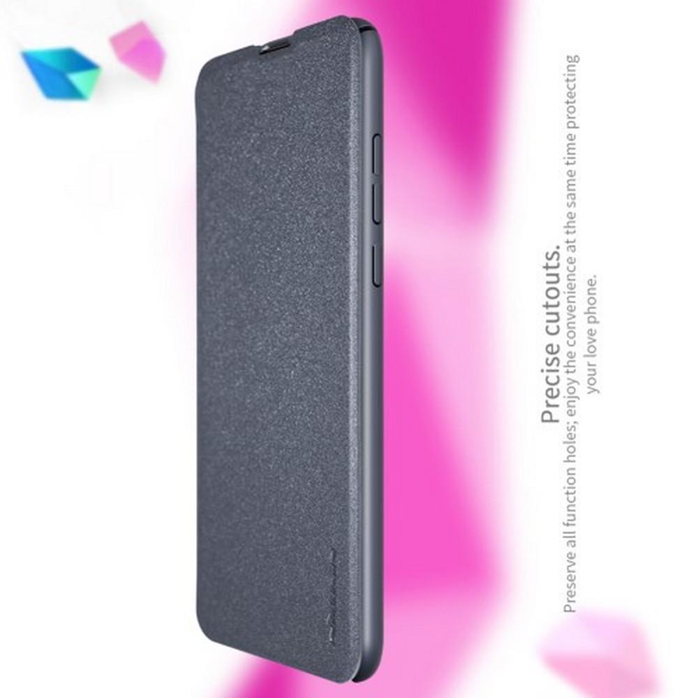 Тонкий Флип NILLKIN Sparkle Горизонтальный Боковой Чехол Книжка для Huawei Nova 4 Серый
