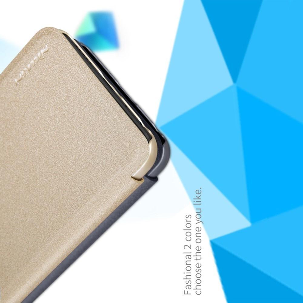 Тонкий Флип NILLKIN Sparkle Горизонтальный Боковой Чехол Книжка для Huawei P Smart 2019 Золотой