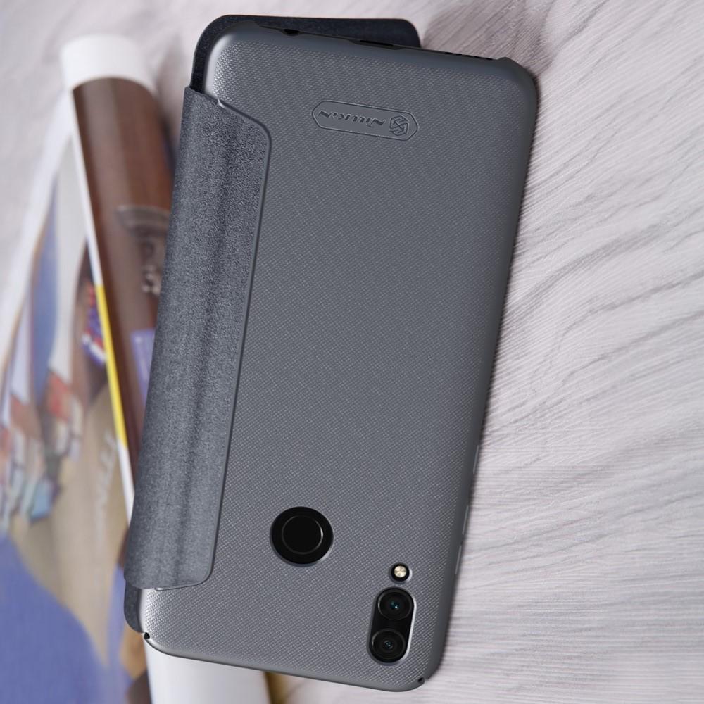 Тонкий Флип NILLKIN Sparkle Горизонтальный Боковой Чехол Книжка для Huawei P Smart 2019 Серый