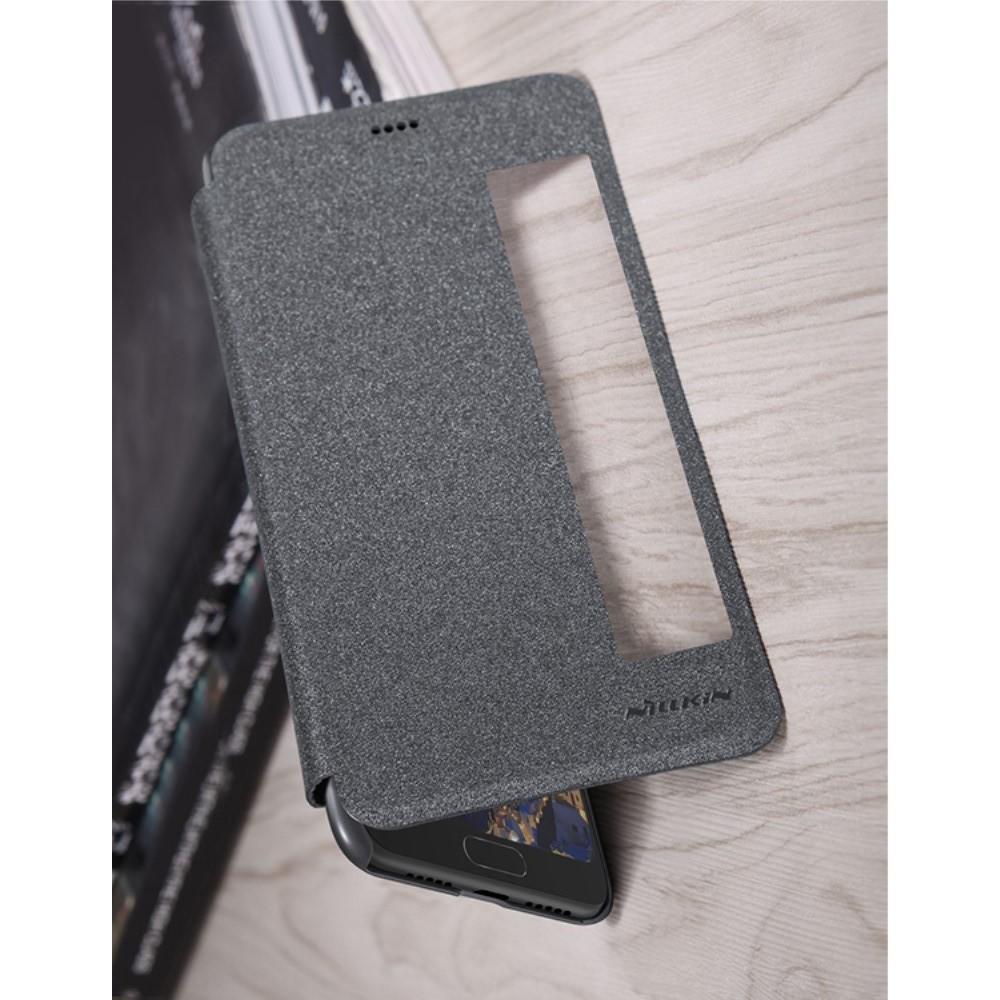 Тонкий Флип NILLKIN Sparkle Горизонтальный Боковой Чехол Книжка для Huawei P20 Серый