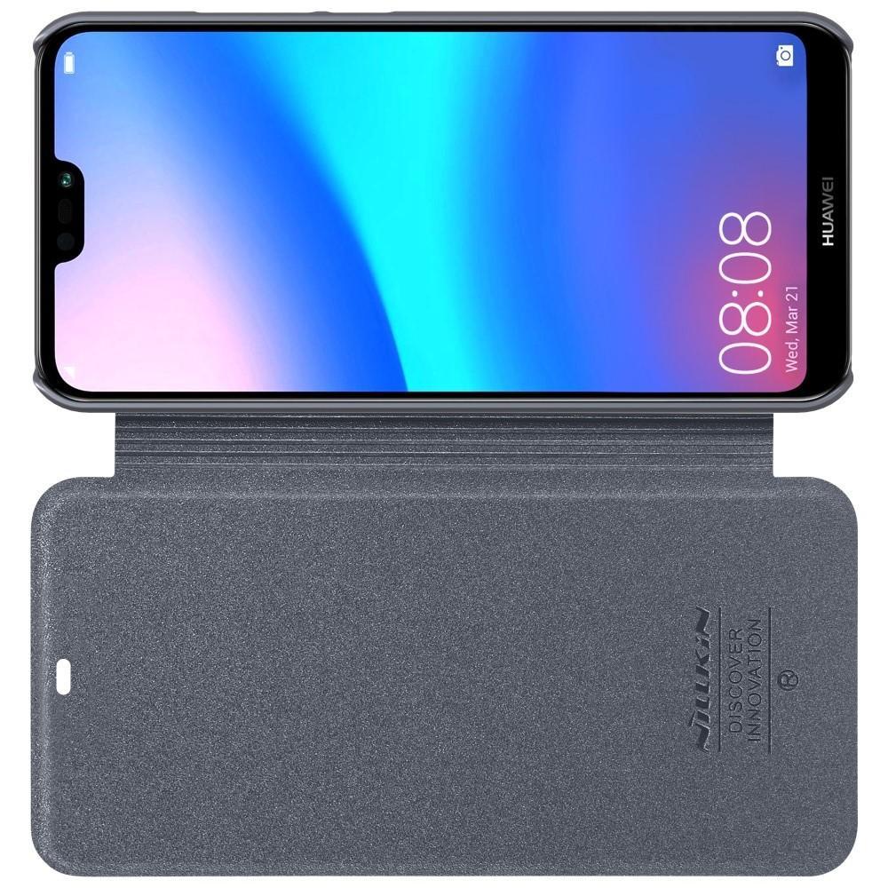Тонкий Флип NILLKIN Sparkle Горизонтальный Боковой Чехол Книжка для Huawei P20 lite Серый