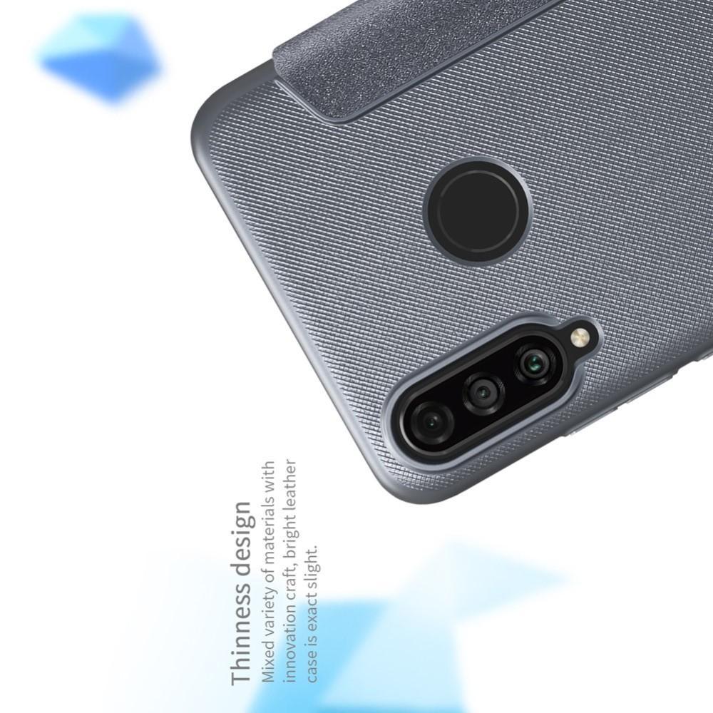 Тонкий Флип NILLKIN Sparkle Горизонтальный Боковой Чехол Книжка для Huawei P30 Lite Серый