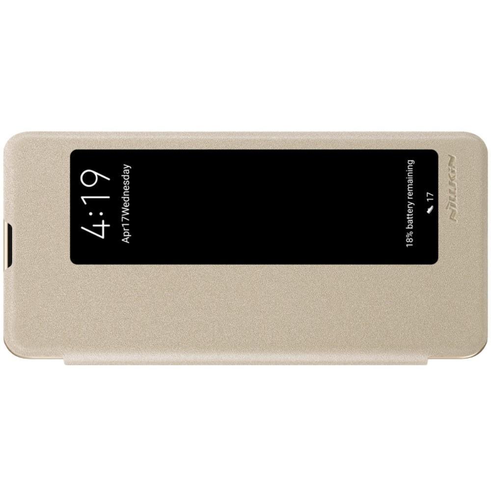 Тонкий Флип NILLKIN Sparkle Горизонтальный Боковой Чехол Книжка для Huawei P30 Pro Золотой