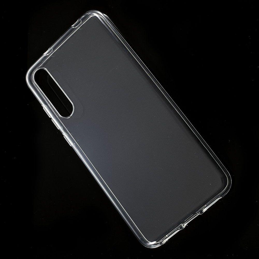 Тонкий TPU Бампер Силиконовый Чехол для Huawei P20 Pro Прозрачный