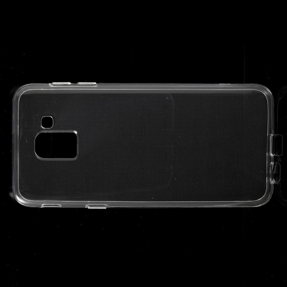 Тонкий TPU Бампер Силиконовый Чехол для Samsung Galaxy J6 SM-J600 Прозрачный
