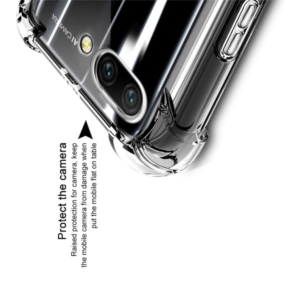 Ударопрочный бронированный IMAK чехол для Huawei Honor 10 с усиленными углами песочно-черный + защитная пленка на экран
