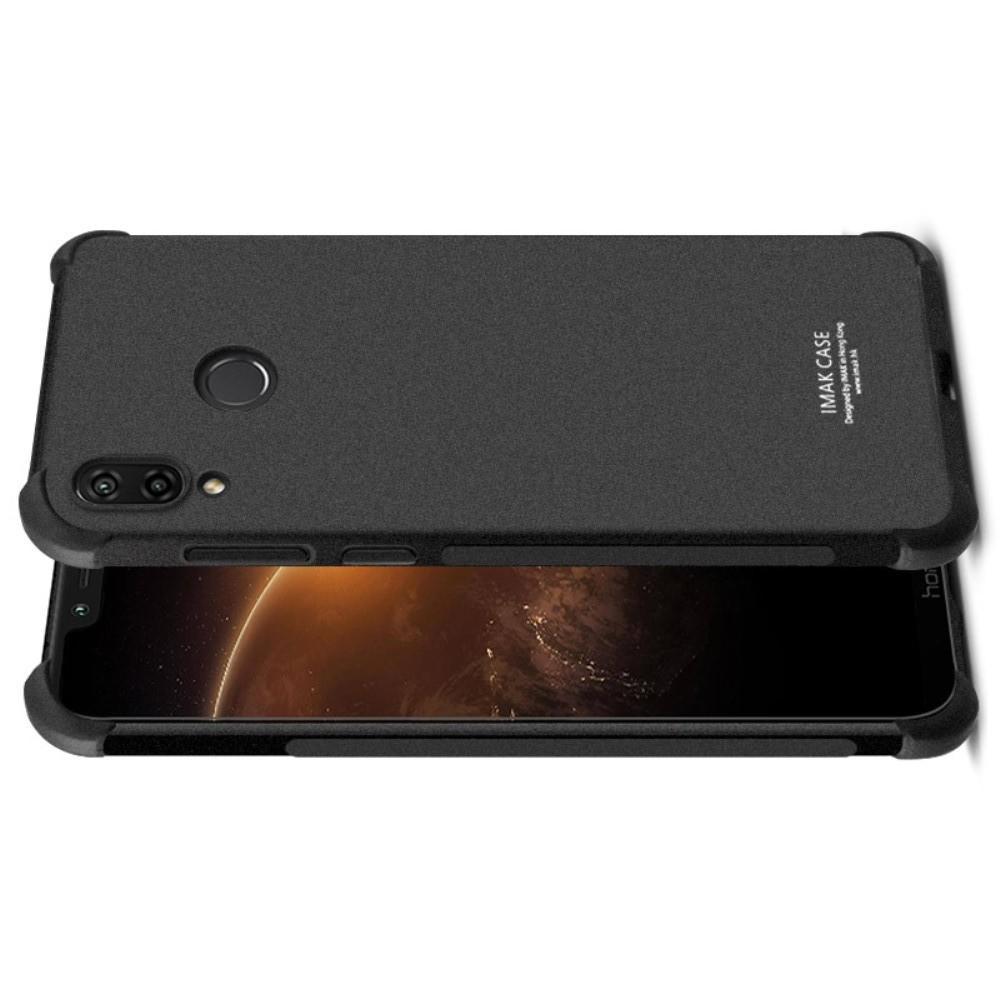 Ударопрочный бронированный IMAK чехол для Huawei Honor Play с усиленными углами песочно-черный + защитная пленка на экран