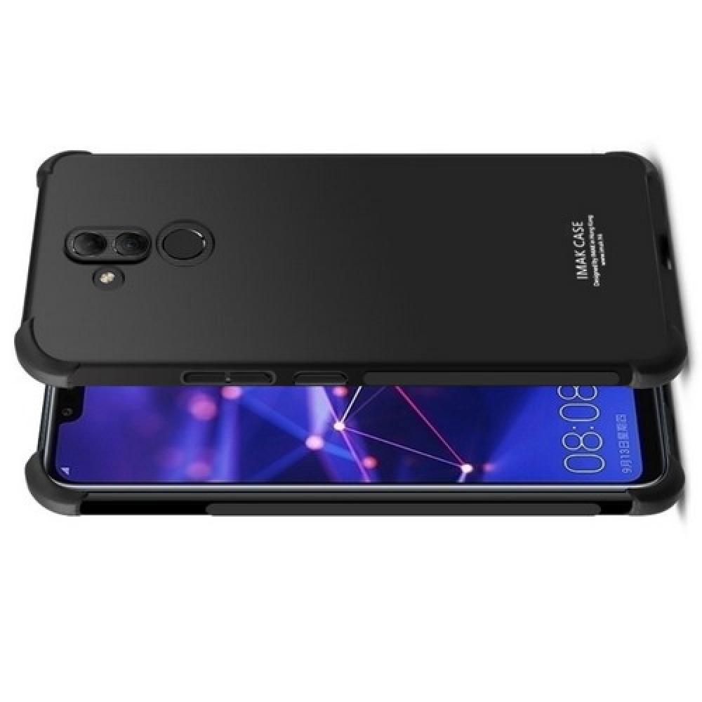 Ударопрочный бронированный IMAK чехол для Huawei Mate 20 Lite с усиленными углами черный + защитная пленка на экран