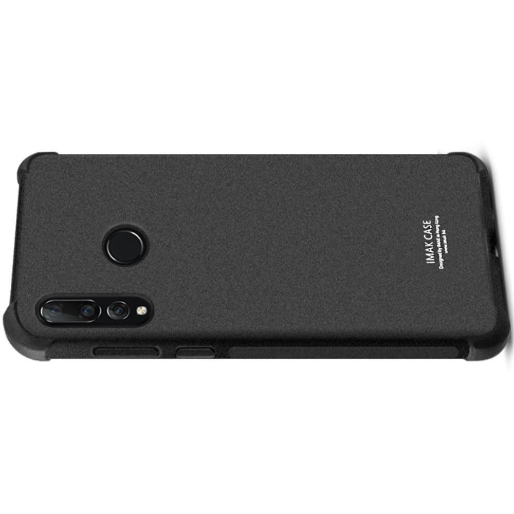 Ударопрочный бронированный IMAK чехол для Huawei P smart+ / Nova 3i с усиленными углами песочно-черный + защитная пленка на экран