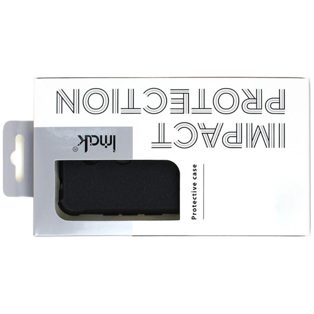 Ударопрочный бронированный IMAK чехол для Samsung Galaxy A50 с усиленными углами песочно-черный + защитная пленка на экран