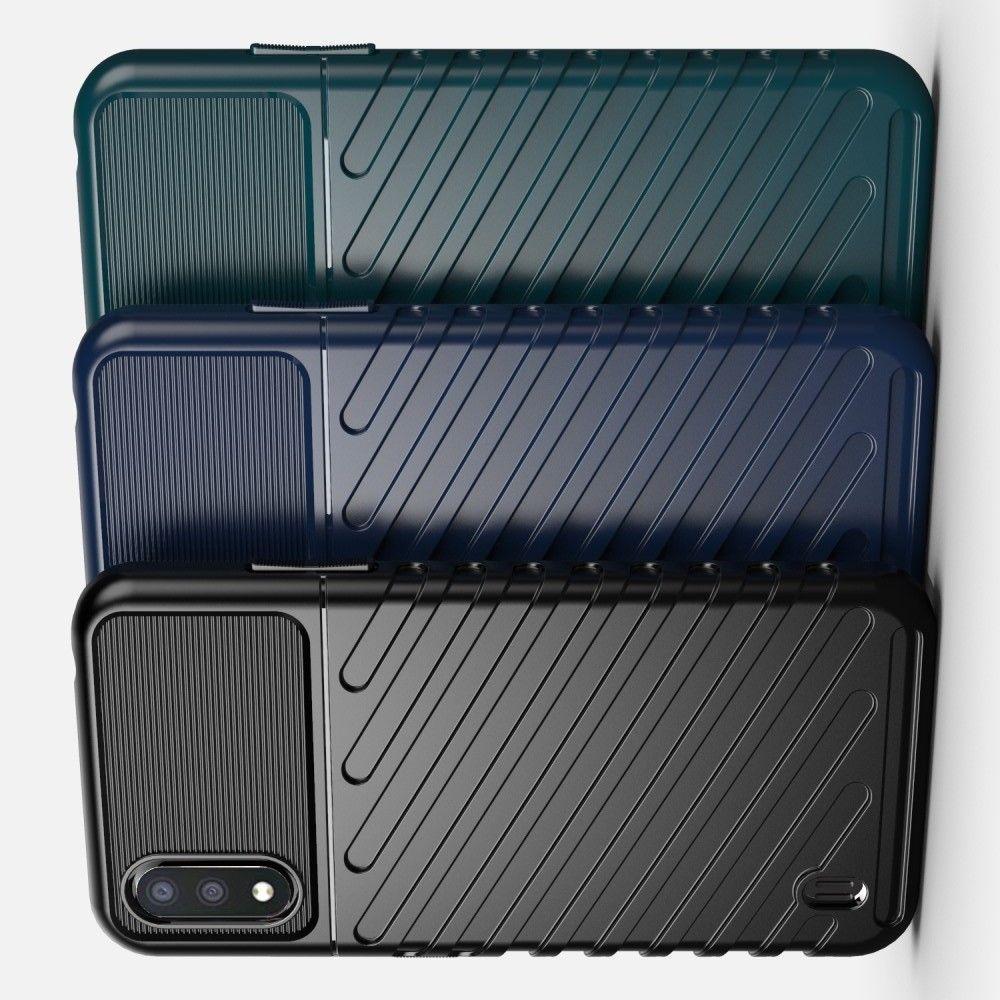 Ударопрочный Защитный Чехол Rugged Armor Guard Пластик + TPU для Samsung Galaxy A01 Черный