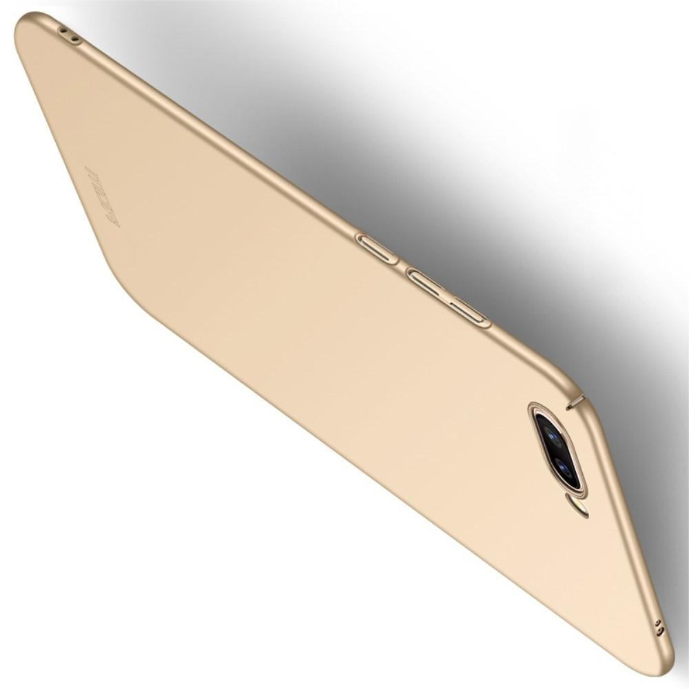 Ультратонкий Матовый Кейс Пластиковый Накладка Чехол для Huawei Honor 10 Золотой
