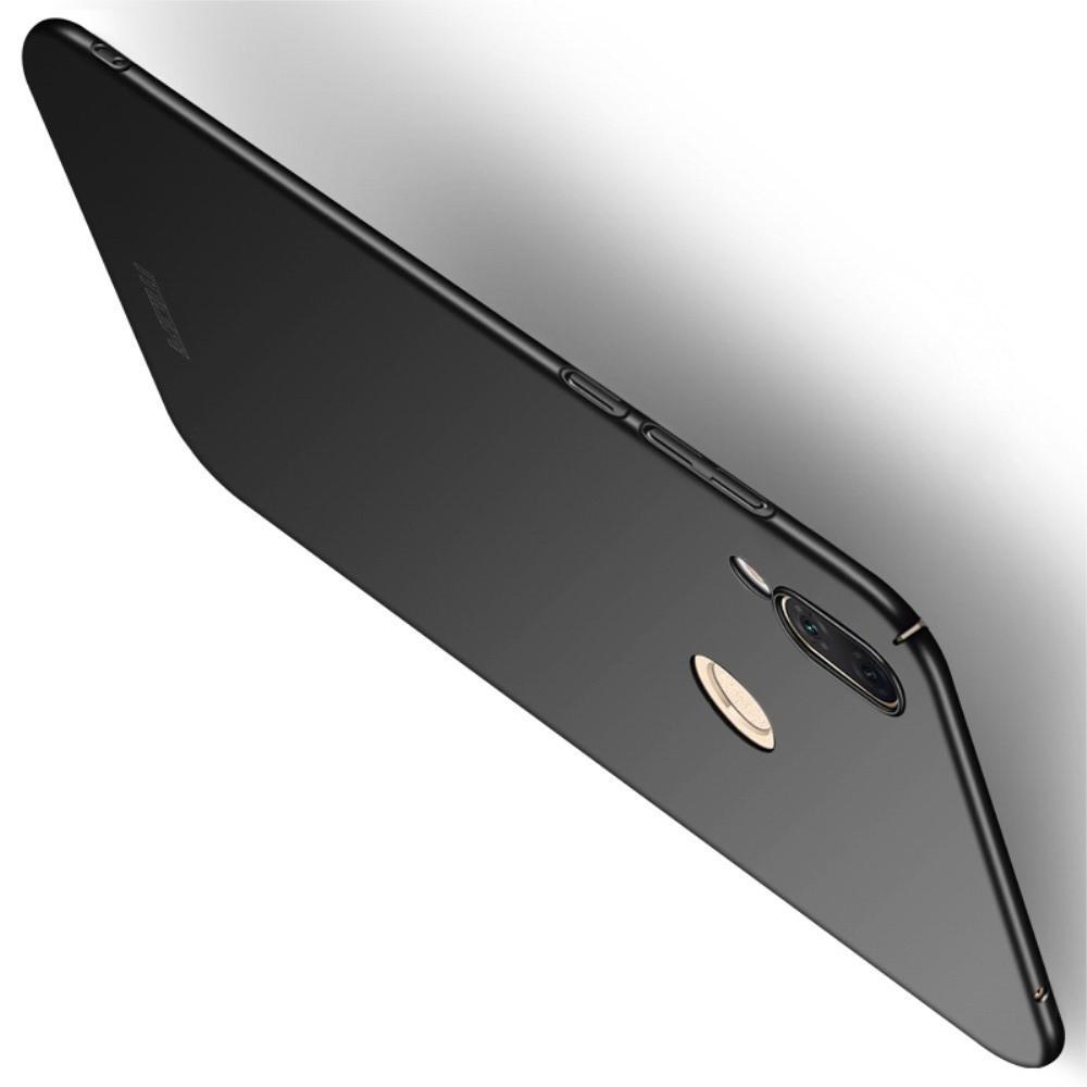 Ультратонкий Матовый Кейс Пластиковый Накладка Чехол для Huawei Honor Play Черный