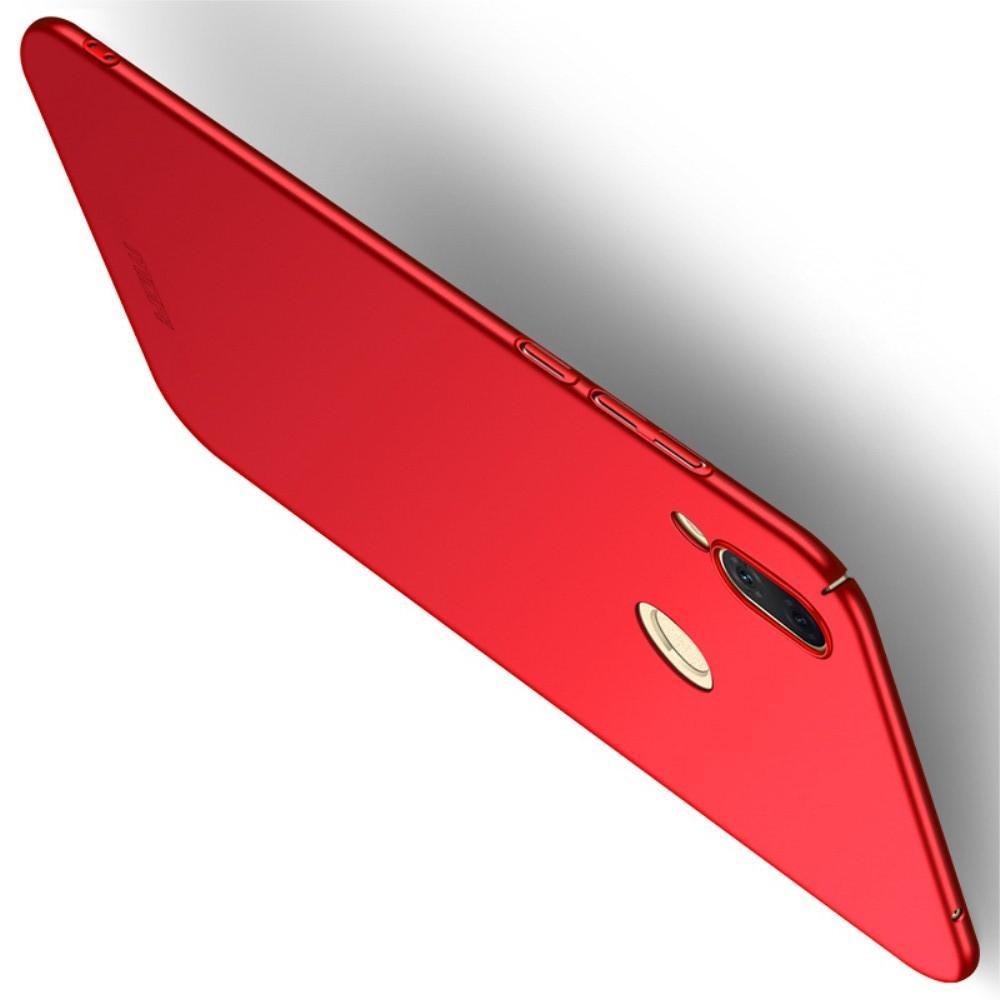 Ультратонкий Матовый Кейс Пластиковый Накладка Чехол для Huawei Honor Play Красный