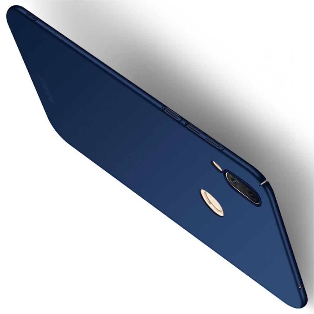 Ультратонкий Матовый Кейс Пластиковый Накладка Чехол для Huawei Honor Play Синий