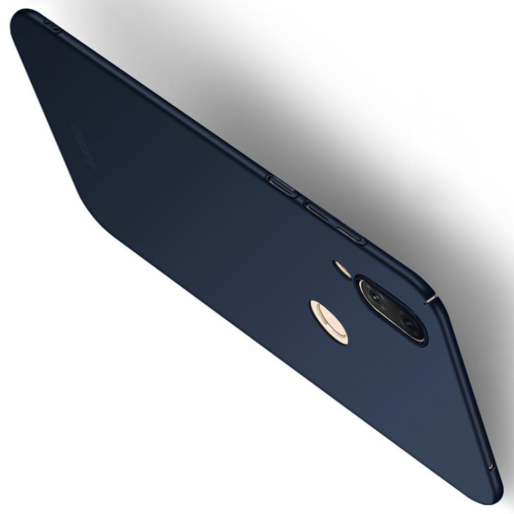 Ультратонкий Матовый Кейс Пластиковый Накладка Чехол для Huawei nova 3 Синий