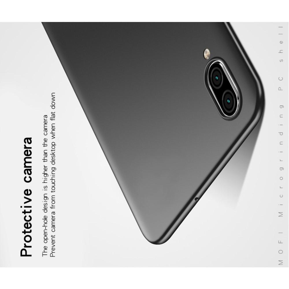 Ультратонкий Матовый Кейс Пластиковый Накладка Чехол для Huawei P Smart 2019 Черный