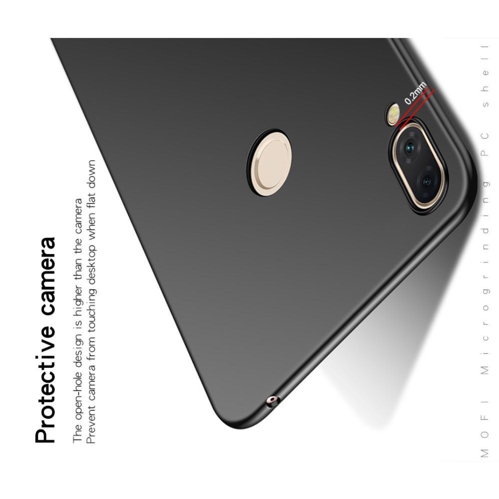 Ультратонкий Матовый Кейс Пластиковый Накладка Чехол для Huawei P smart+ / Nova 3i Черный
