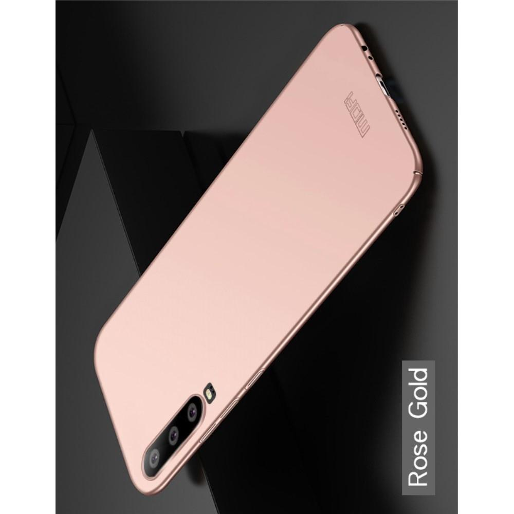 Ультратонкий Матовый Кейс Пластиковый Накладка Чехол для Huawei P30 Розовое Золото