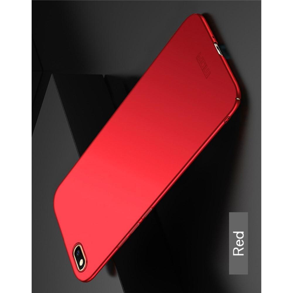 Ультратонкий Матовый Кейс Пластиковый Накладка Чехол для Huawei Y5 2018 / Y5 Prime 2018 / Honor 7A Красный