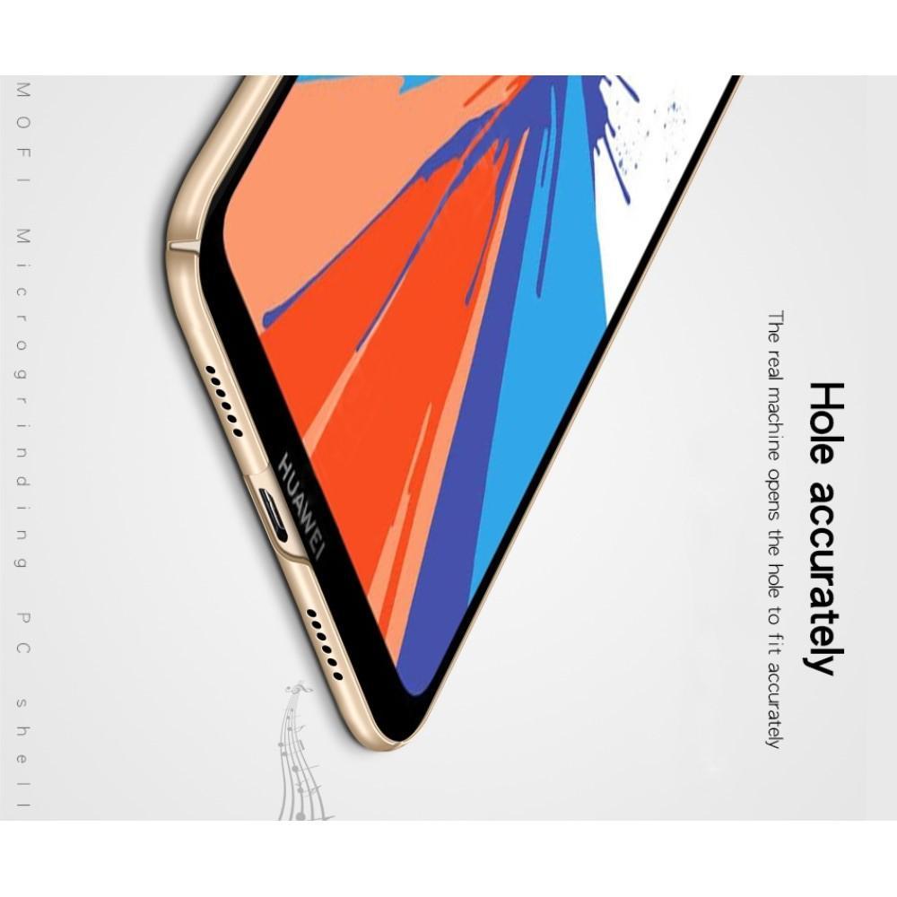 Ультратонкий Матовый Кейс Пластиковый Накладка Чехол для Y7 / Y7 Pro 2019 Черный