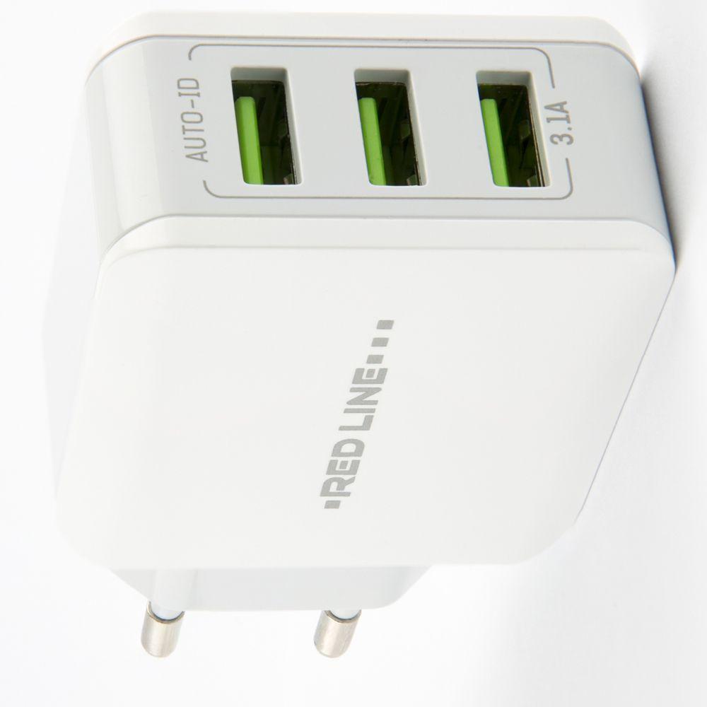 Умная быстрая зарядка 3 USB для телефона 3,1 А с авто мощностью