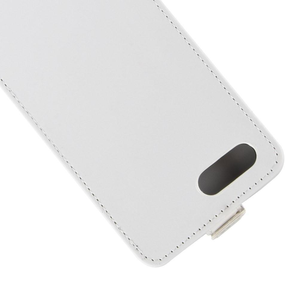 Вертикальный флип чехол книжка с откидыванием вниз для Huawei Honor 10 - Белый