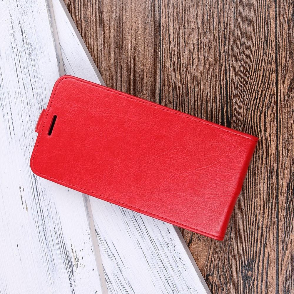 Вертикальный флип чехол книжка с откидыванием вниз для Huawei Honor 10 - Красный