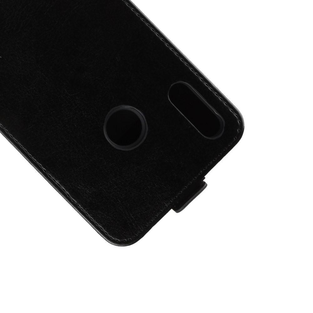 Вертикальный флип чехол книжка с откидыванием вниз для Huawei Honor 8X - Черный