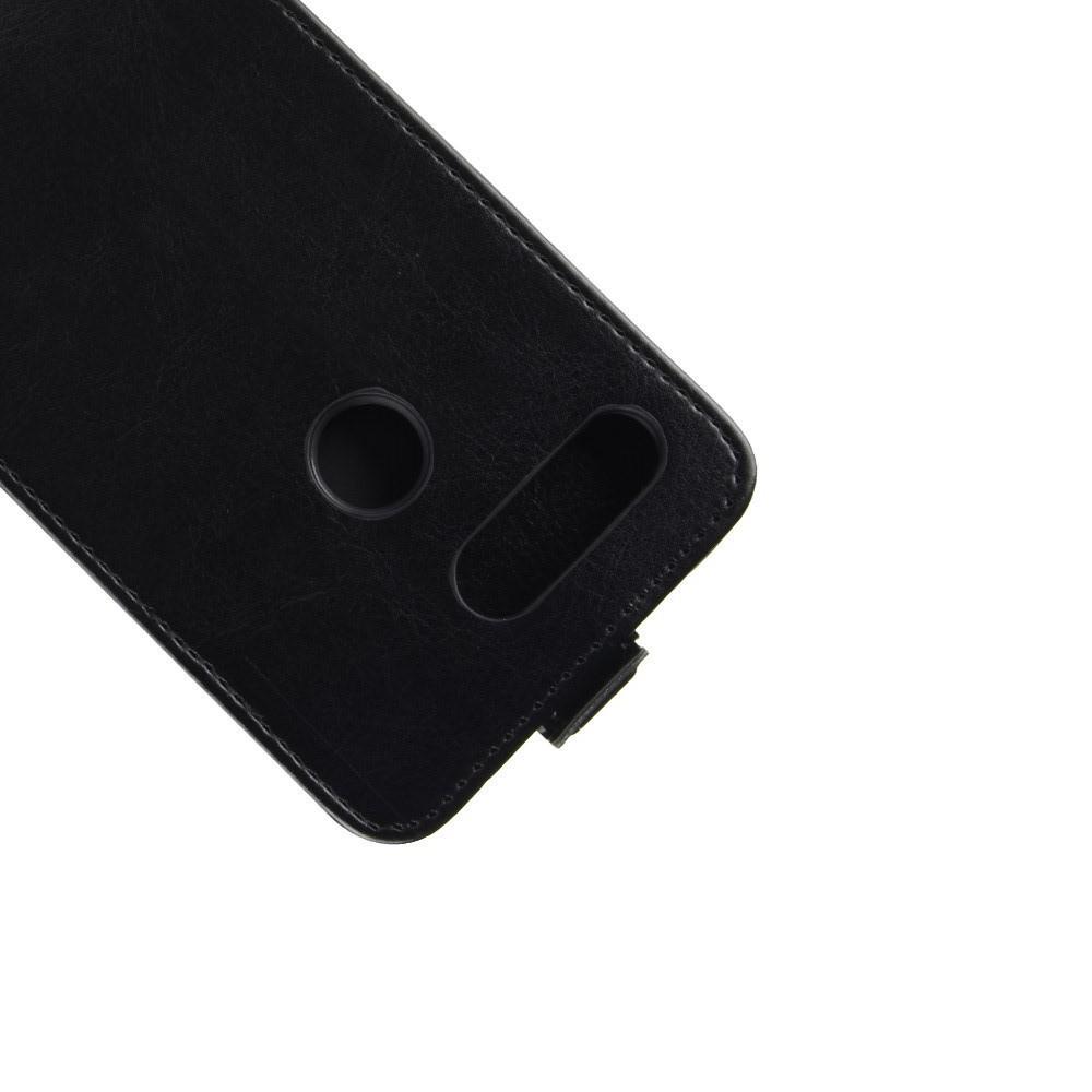 Вертикальный флип чехол книжка с откидыванием вниз для Huawei Honor View 20 (V20) - Черный