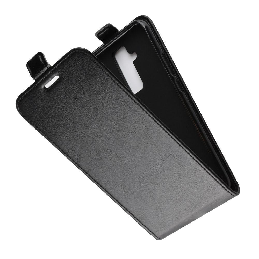 Вертикальный флип чехол книжка с откидыванием вниз для Huawei Mate 20 Lite - Черный
