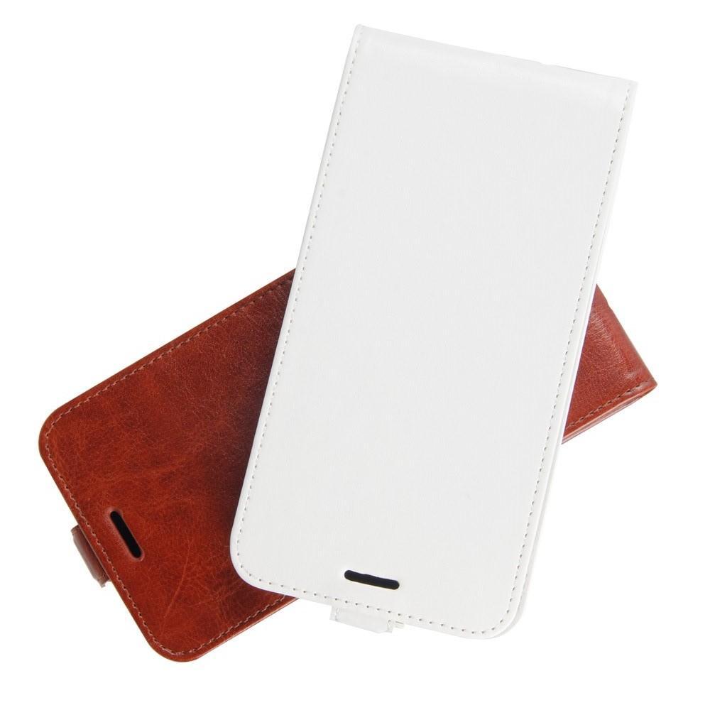 Вертикальный флип чехол книжка с откидыванием вниз для Huawei Mate 20 Lite - Белый