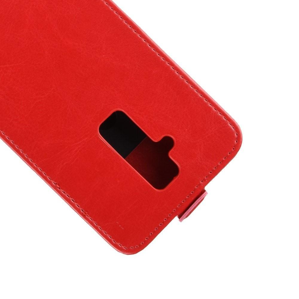 Вертикальный флип чехол книжка с откидыванием вниз для Huawei Mate 20 Lite - Красный