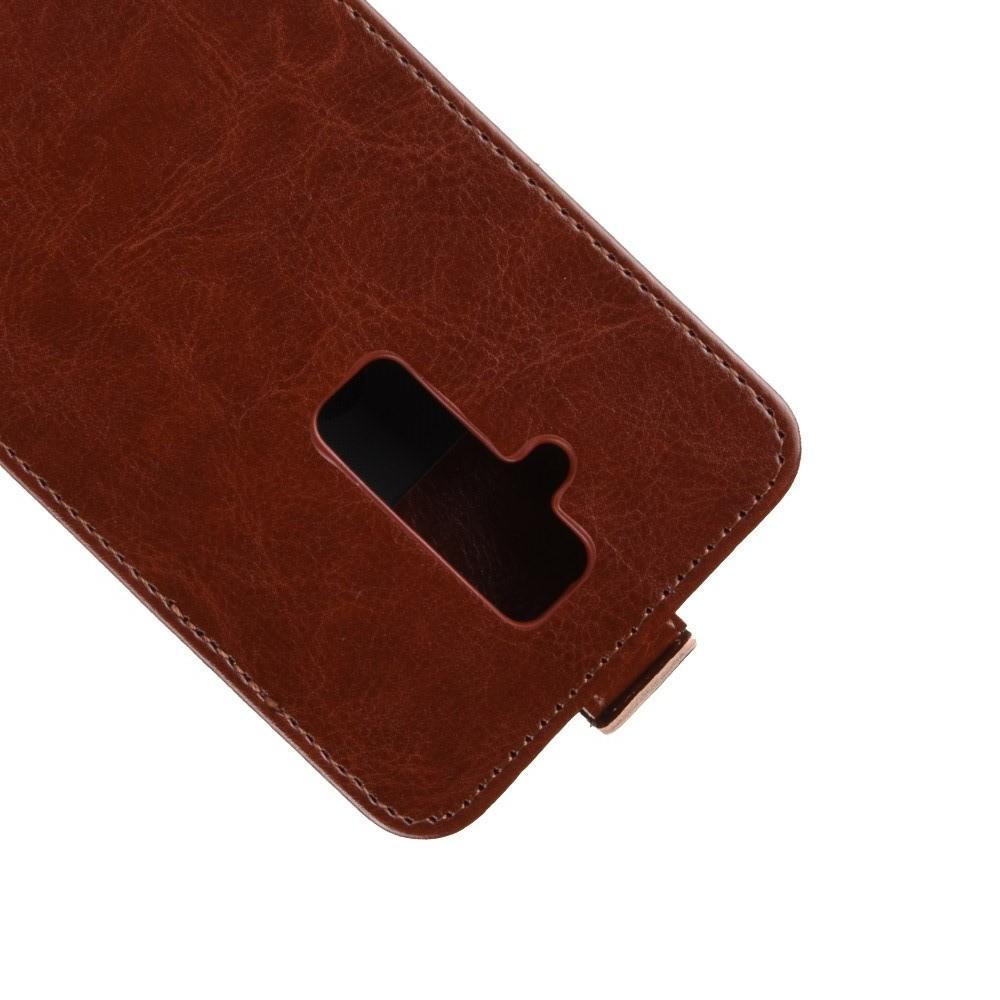 Вертикальный флип чехол книжка с откидыванием вниз для Huawei Mate 20 Lite - Коричневый